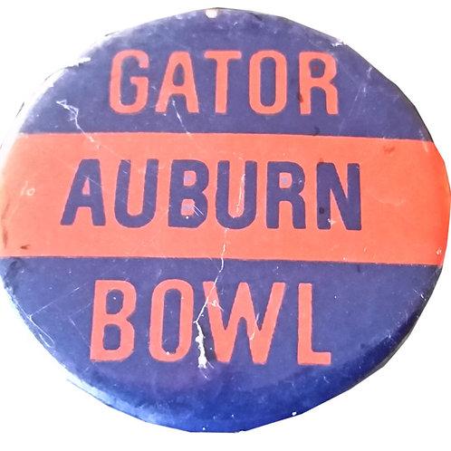 1972 Auburn Gator Bowl Metal Pin