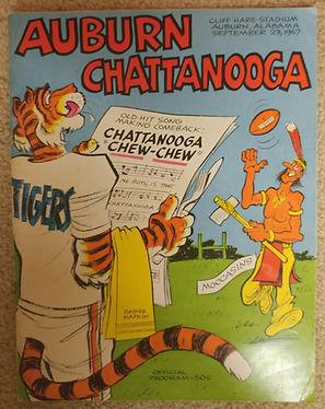 Auburn Football Vintage Game Program
