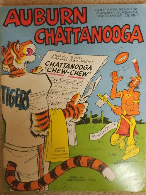 1967 Auburn vs. Chattanooga Game Program