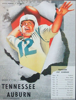 1957 Auburn vs Tennessee Vintage Football Game Program