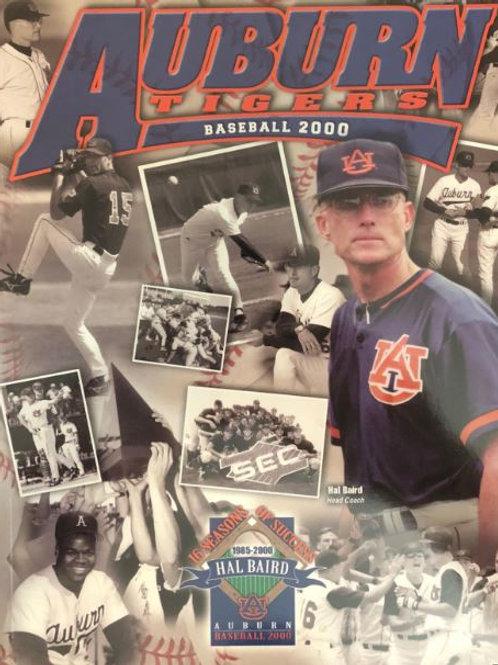 2000 Auburn Tiger Baseball Media Guide