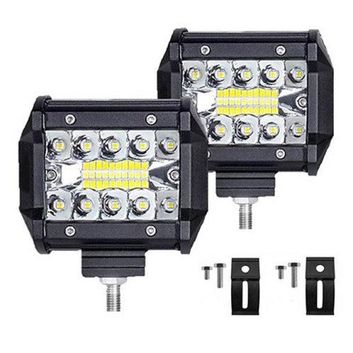 """Pair of 60 Watt/200W 4"""" Spot 20 LED Light Bar Lamp"""