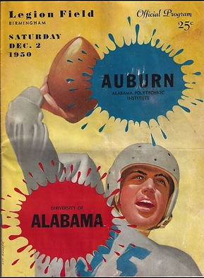 1950 Vintage Auburn vs Alabama Game Program
