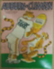 Vintage 1967 Auburn Tiger Program