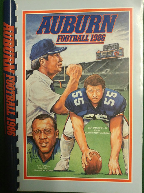 1986 Auburn Football Media Guide