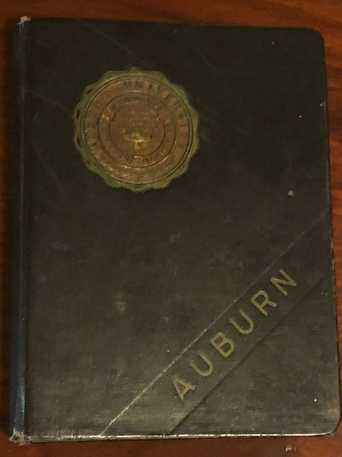 "1960's Auburn Black Notebook, 10"" x 7"""