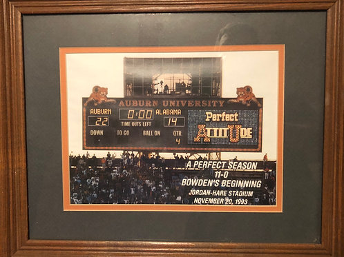 "16""x13"" 1993 Perfect Season Scoreboard Framed Pic"