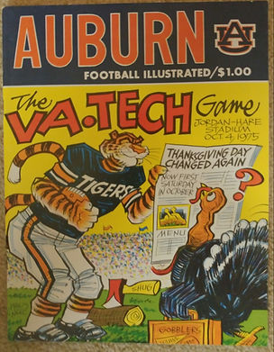 Vintage Auburn Football Program