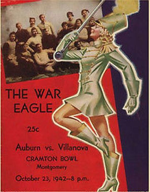 Vintage 1940 Auburn Tiger Football Program