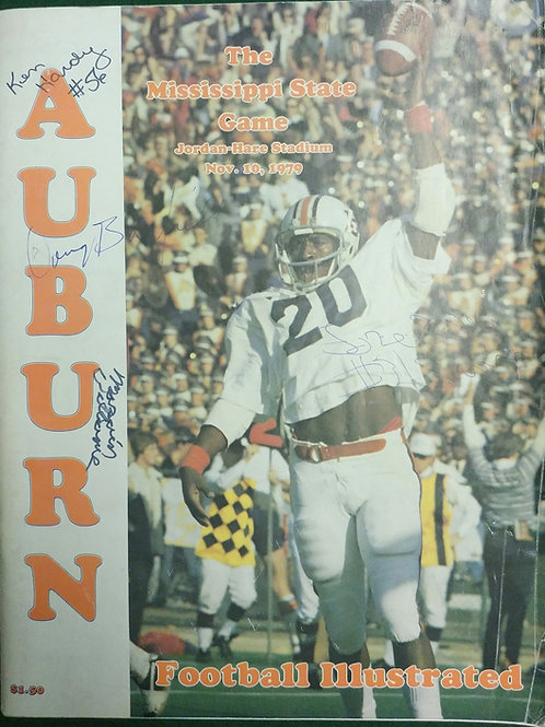 1979 Auburn vs Miss State Game Program, Joe Cribbs