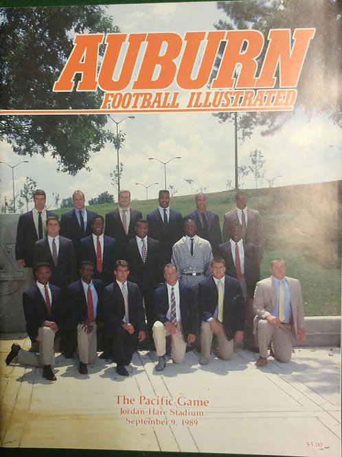 1989 Auburn vs. Pacific Game Program
