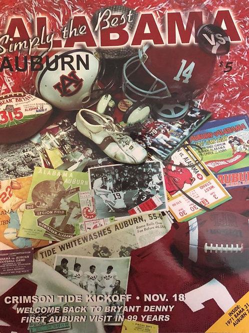 2000 Alabama vs. Auburn Iron Bowl Program