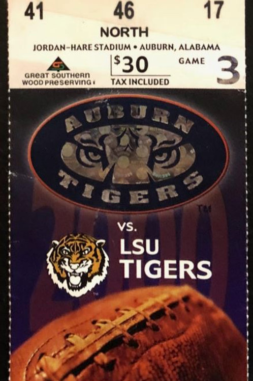 2000 Auburn vs. LSU Ticket, 09-16-00