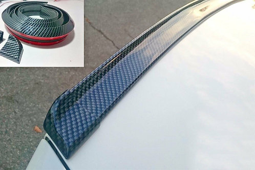 4.9ft 3D Carbon Fiber Car Rear Wing Lip Spoiler Tail Trunk Roof Trim Kit