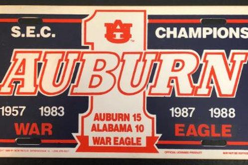 1988 SEC Champions License Plate