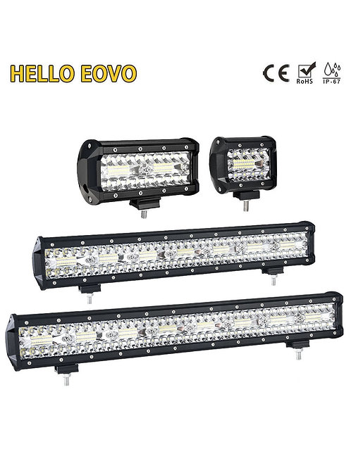"4"" to 32"" LED Bar LED Work Light Bar with & without Wiring Kits"