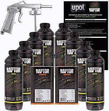 Raptor Liner Urethane Spray-On Bed Liner, 8 Bottle Kit