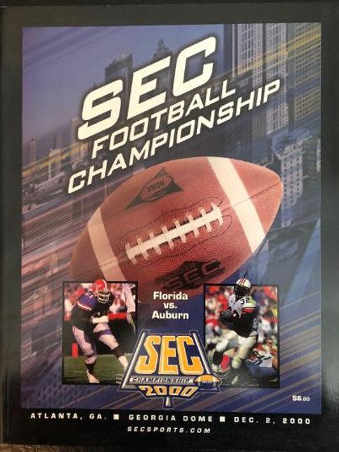 2000 SEC Football Championship Program - Auburn vs. Florida