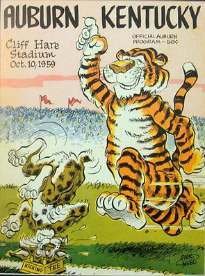 Auburn vintage 1959 game program