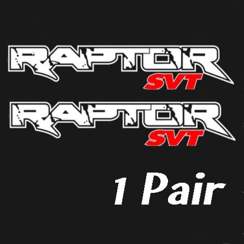 "28"" x 5.5"" WHITE Ford Raptor SVT ORACAL Decals"