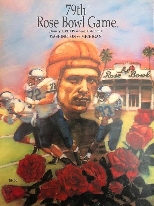 79th ROSE BOWL GAME PROGRAM, Jan 1,1993