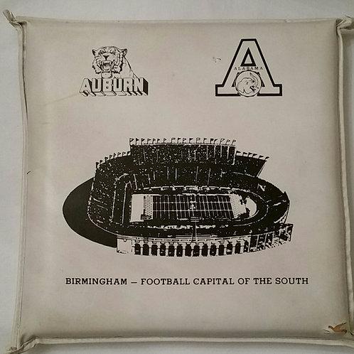 1969 Auburn and SEC Schedule Stadium Seat