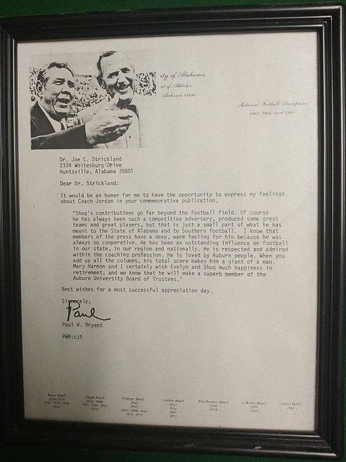 1975 Letter from Bear Bryant to Shug Jordan - copy