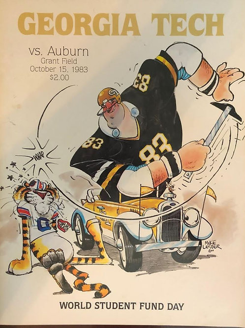 1983 Auburn at Georgia Tech Game Program