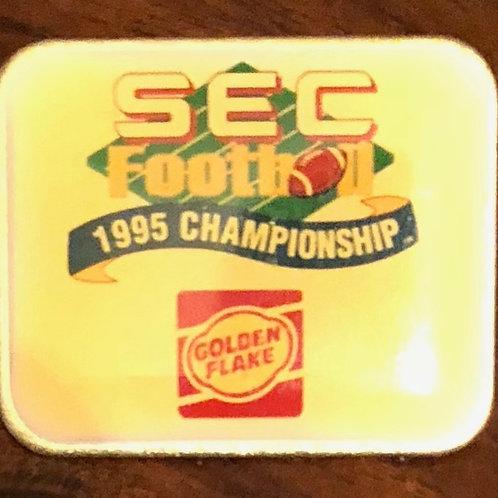 1995 SEC Football Champion pin - Golden Flake