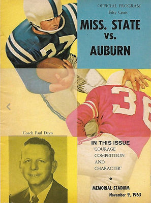 1963 Vintage Auburn Tiger Game Program