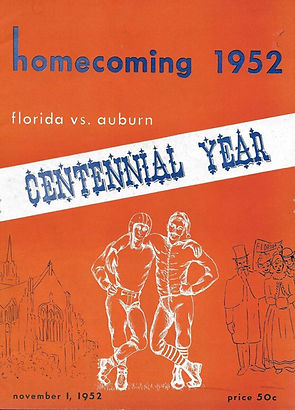 Auburn Tiger Football Game Program