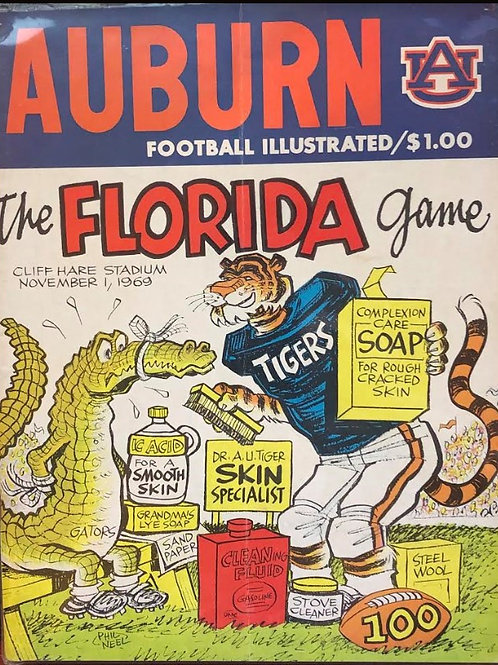 Florida Gators vs. Auburn Tigers Game Day Program - Nov. 1, 1969