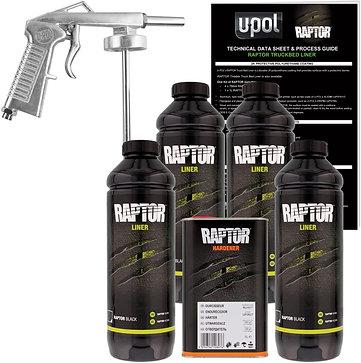Raptor Liner Urethane Spray-On Bed Liner Kit, 4 Bottle Kit