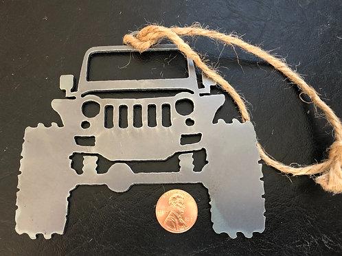 Jeep Wrangler metal ornament