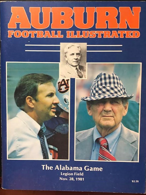 1981 Iron Bowl Game Day Program - Bear's historic 315th Victory
