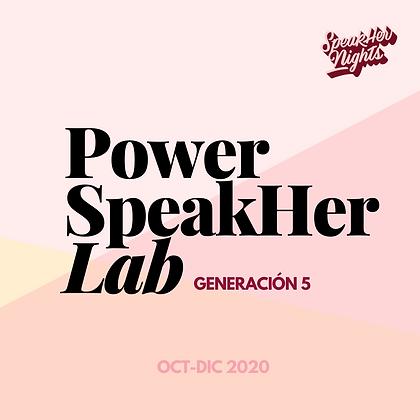 PowerSpeakher Lab: Generación 5