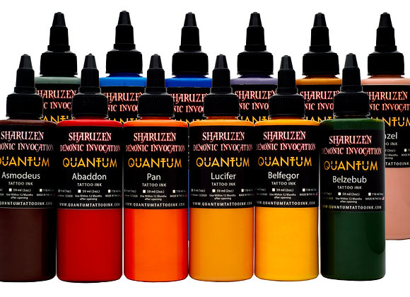 SHARUZEN DEMONIC INVOCATION TATTOO INK SET 12 COLORS