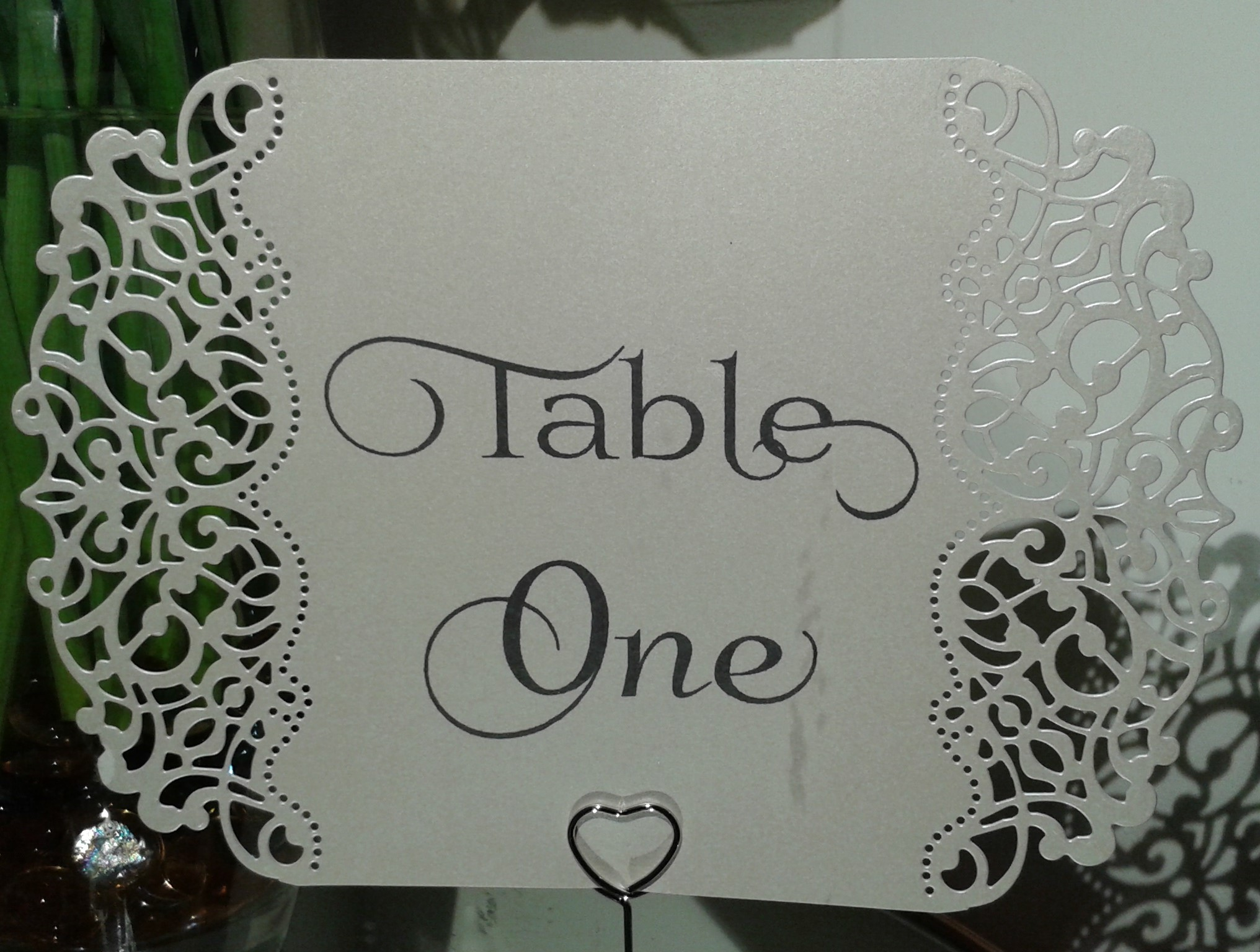 Die Cut Table Number