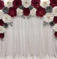 LED & Paper Flower Backdrop