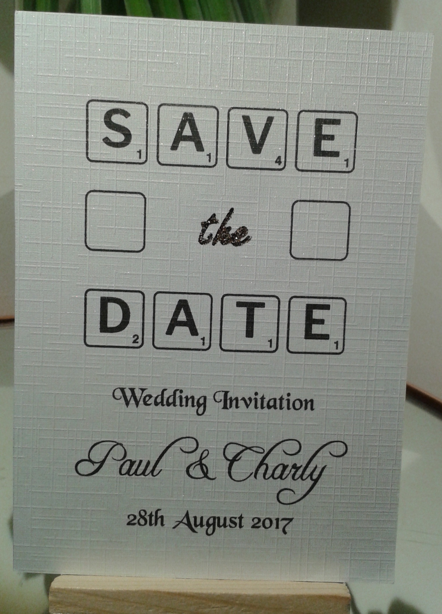 Laser Print - Save The Date