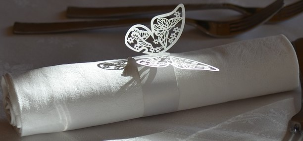 Die Cut Butterfly Napkin Ring