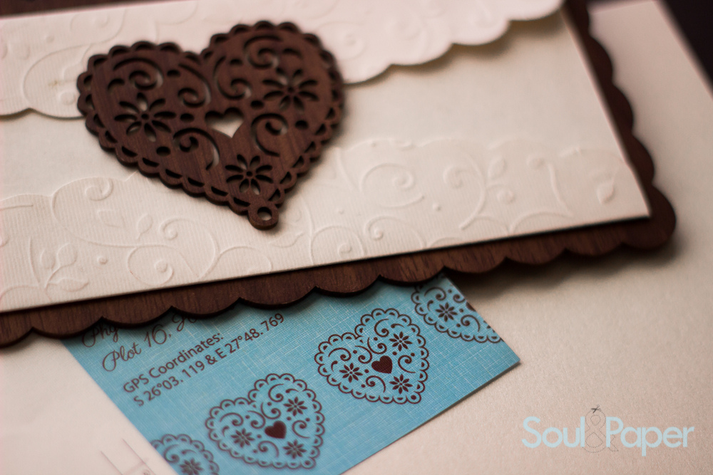 Wooden Embossed Invite