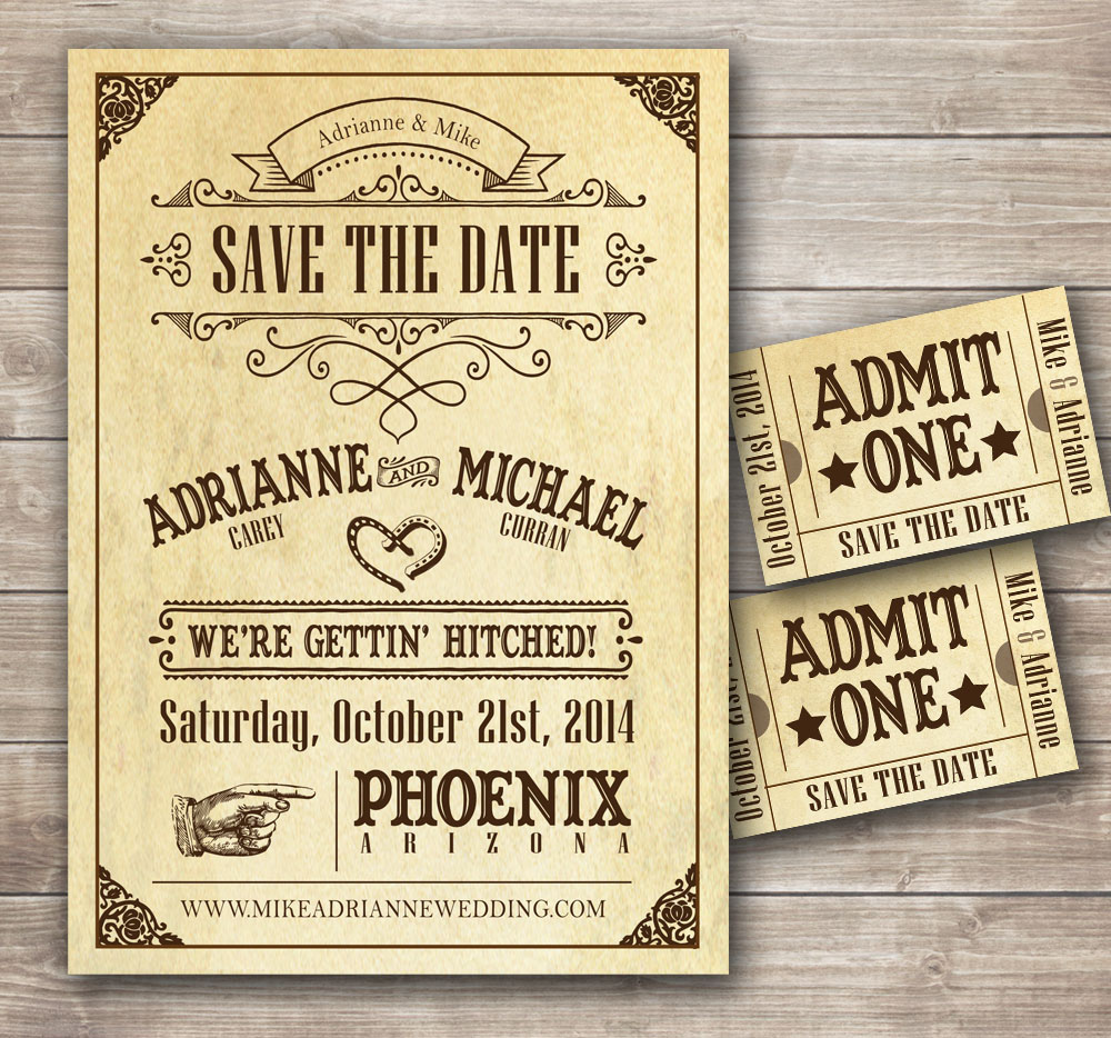 Themed Park - Save The Date Cards