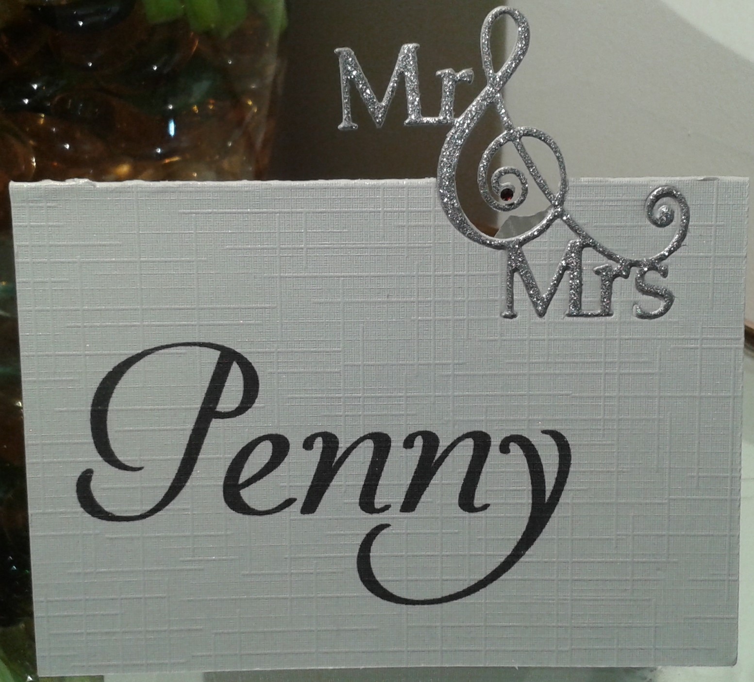 Mr & Mrs Die Cut - Placeholder