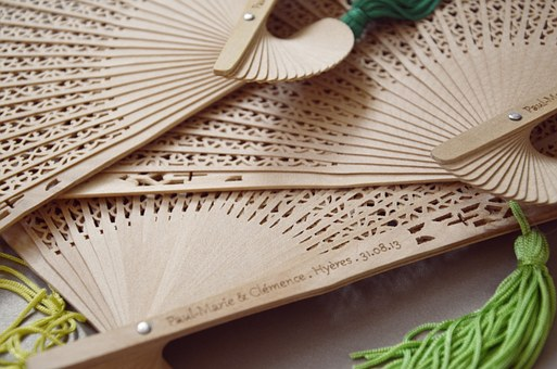 Wooden Personalised Fans