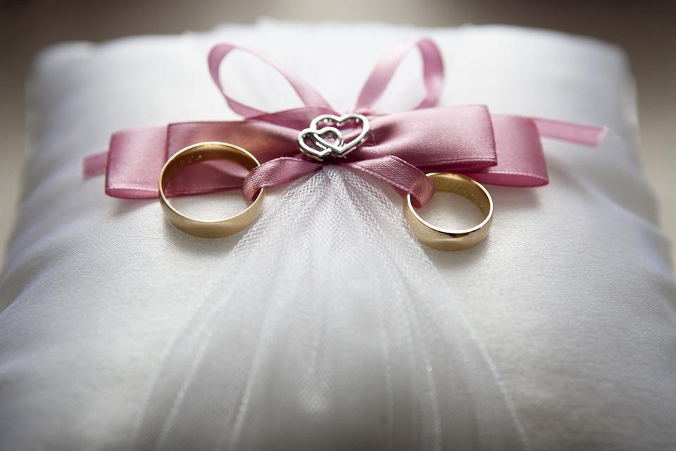 Hearts & Rings Cushion Gift