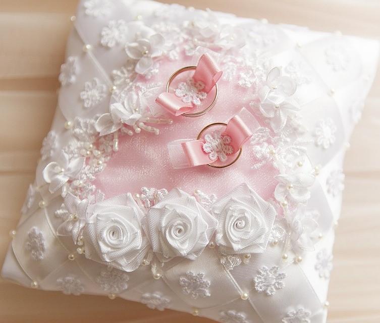 Mini Lace & Pearl Cushion