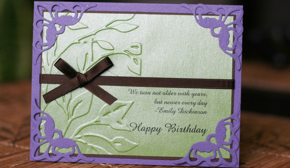 Embossed, Die Cut Ribbon Invite