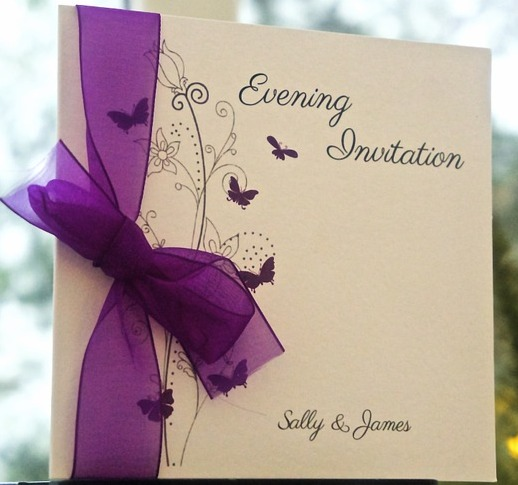 Stamped Ribbon Invitation