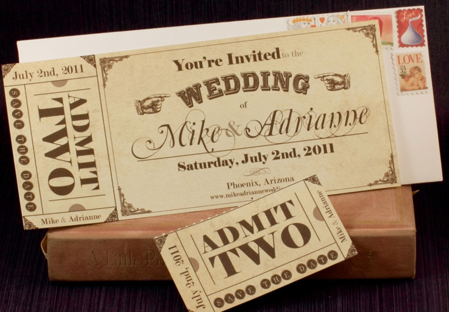 Fairground Stubs Invites